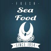 海の食べ物 — ストックベクタ