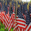 Stock Photo: Flag Decorations for AmericHoliday
