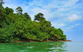 Isla tropical en mar abierto — Foto de Stock