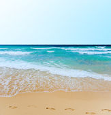 Ensolarada praia tropical da ilha — Foto Stock