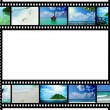 Film strip with beautiful holiday pictures - Stock Photo