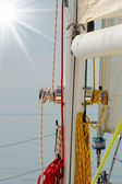 在大海中的游艇 — 图库照片