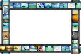 Film strip with beautiful holiday pictures — Stock Photo