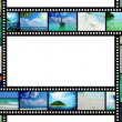 Film strip with beautiful holiday pictures — Stock Photo #20312869