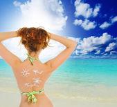 Sun tan lotion — Stock Photo