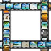 Taśmy filmowej z piękne wakacje Zdjęcia — Zdjęcie stockowe