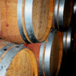 Wooden barrel cask for wine - Stock Photo