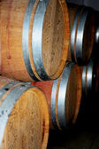Wooden barrel cask for wine — Stock Photo