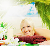 Woman in a spa salon — Stock Photo