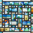 Film strip with beautiful holiday pictures — Стоковая фотография