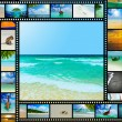 Film strip with beautiful holiday pictures — Foto de Stock