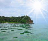 Tropical island in the open sea — Stock Photo