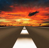 Express road disappearing over the horizon — Stock Photo
