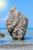 Sea rock birthplace of Aphrodite — Stock Photo