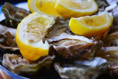 ústřice s citrónem — Stock fotografie