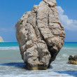 Sea rock birthplace of Aphrodite - Stock Photo