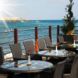Restaurant overlooking the sea — Stock Photo