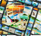 Film strip with beautiful holiday pictures — Stock fotografie