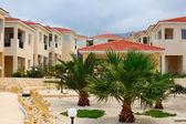 美丽的庭院与棕榈树 — 图库照片