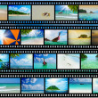 Film strip with beautiful holiday pictures — Stock Photo #25766239