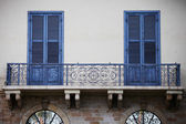 Big beautiful iron balconies — Stock Photo