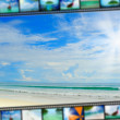 Film strip with beautiful holiday pictures — Stock Photo #25785649