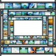 Film strip with beautiful holiday pictures — Foto Stock