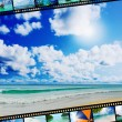 Film strip with beautiful holiday pictures — Stock Photo #25835649
