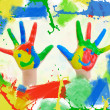 Small hand painted child. — Stock Photo #25836137