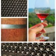 Stock Photo: Wine collage.