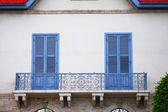 Balconi di ferro bello grosso — Foto Stock