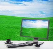 Sunny bright office — Stock Photo