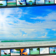 Film strip with beautiful holiday pictures — Stock Photo #26084845