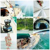Iate em alto mar — Foto Stock