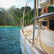 Yacht in the open sea — Stockfoto