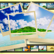 Film strip with beautiful holiday pictures — Stock Photo #26093239