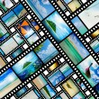 Film strip with beautiful holiday pictures — Stock Photo #26970813