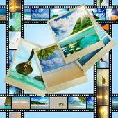 Striscia di pellicola con immagini belle vacanze — Foto Stock
