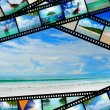 Film strip with beautiful holiday pictures — Stock Photo #27145985