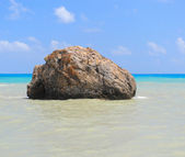 Sea rock birthplace of Aphrodite — Stock Photo