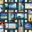 Film strip with beautiful holiday pictures — Stock Photo #27223721