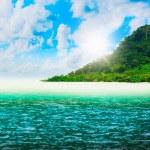 Sunny tropical beach on the island — Stock Photo #27298489