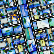 Film strip with beautiful holiday pictures — Stock Photo #27393059