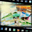 Film strip with beautiful holiday pictures — Stock Photo #27779661