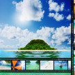 Film strip with beautiful holiday pictures — Stock Photo #27779673