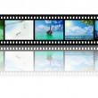 Film strip with beautiful holiday pictures — Stock Photo #27780043