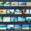 Film strip with beautiful holiday pictures — Stock Photo #27780177