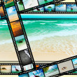 Film strip with beautiful holiday pictures — Stock Photo #27780339