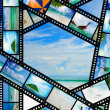 Film strip with beautiful holiday pictures — Stock Photo #27780561