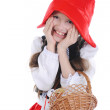 Girl in a red cap. — Stock Photo #3283054